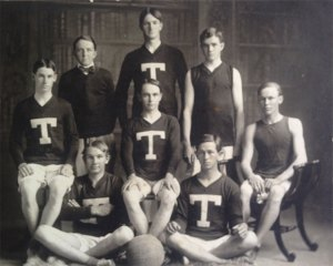 Tucson HS Basketball. Seated lower right