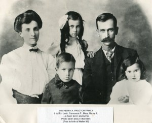 Henry A Proctor Family 1904