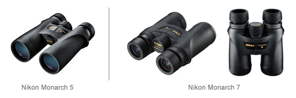 Nikon  Monarch 5 vs. Monarch 7 Binoculars