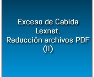 Exceso Cabida Lexnet