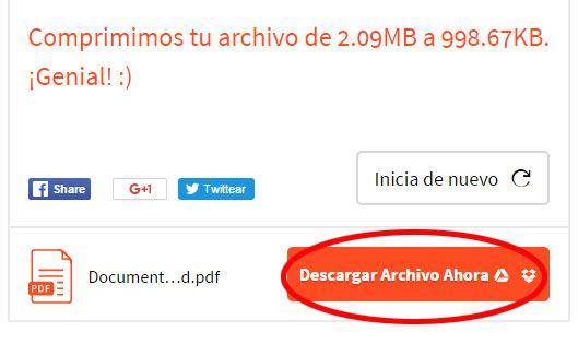 Guardamos nuestro Archivo PDF Reducido