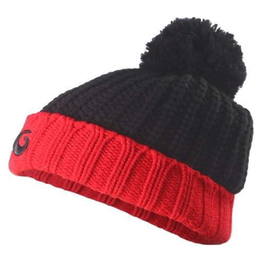 Head First Protective Curling Headgear: Toque - Black With Red