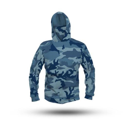 Camouflage Performance HooDoo Camo Blue