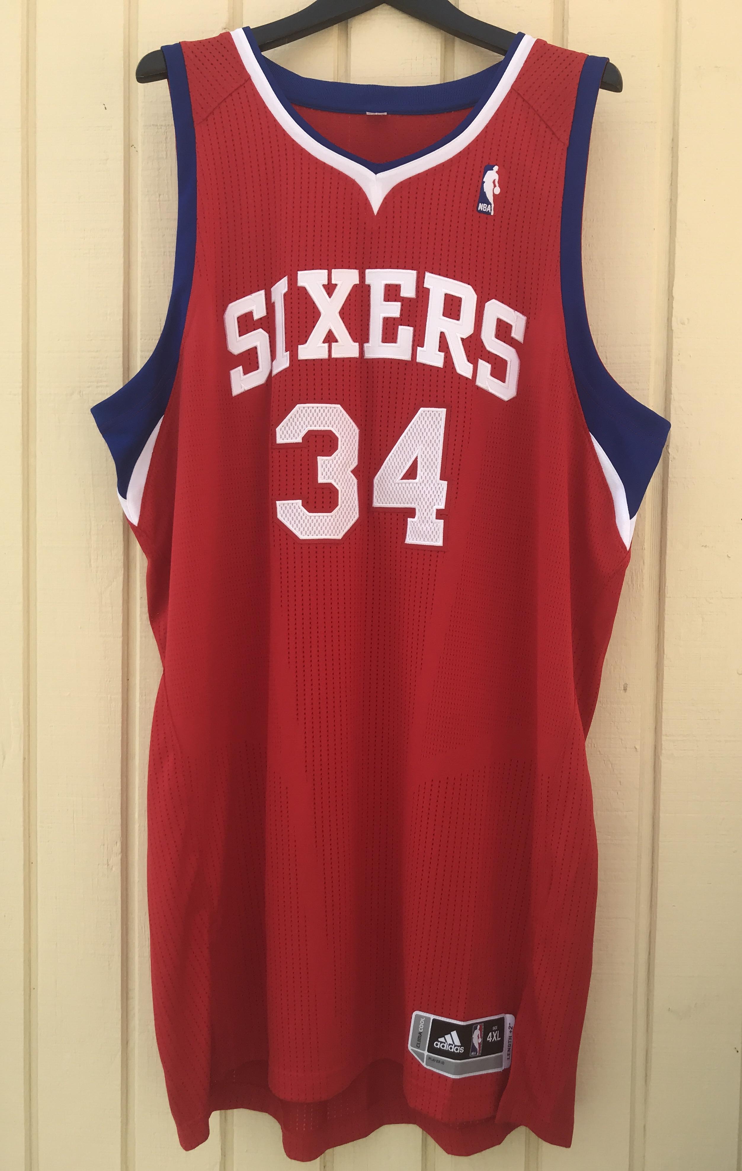 55ad6708e47 Philadelphia 76ers #34 Charles Barkley Sixers Custom NBA adidas rev30 On  Court Road Jersey