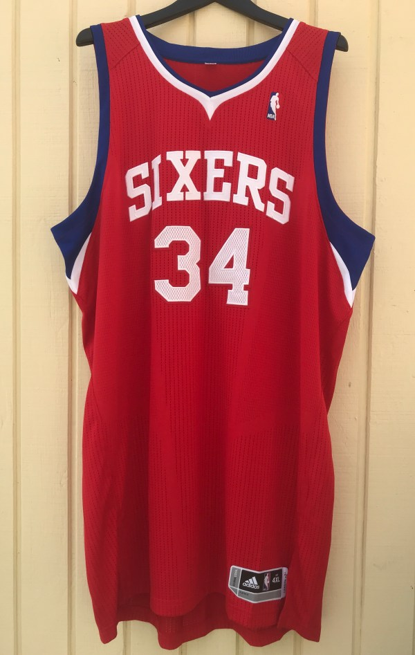 buy popular e3387 6351f Philadelphia 76ers #34 Charles Barkley Sixers Custom NBA adidas rev30 On  Court Road Jersey