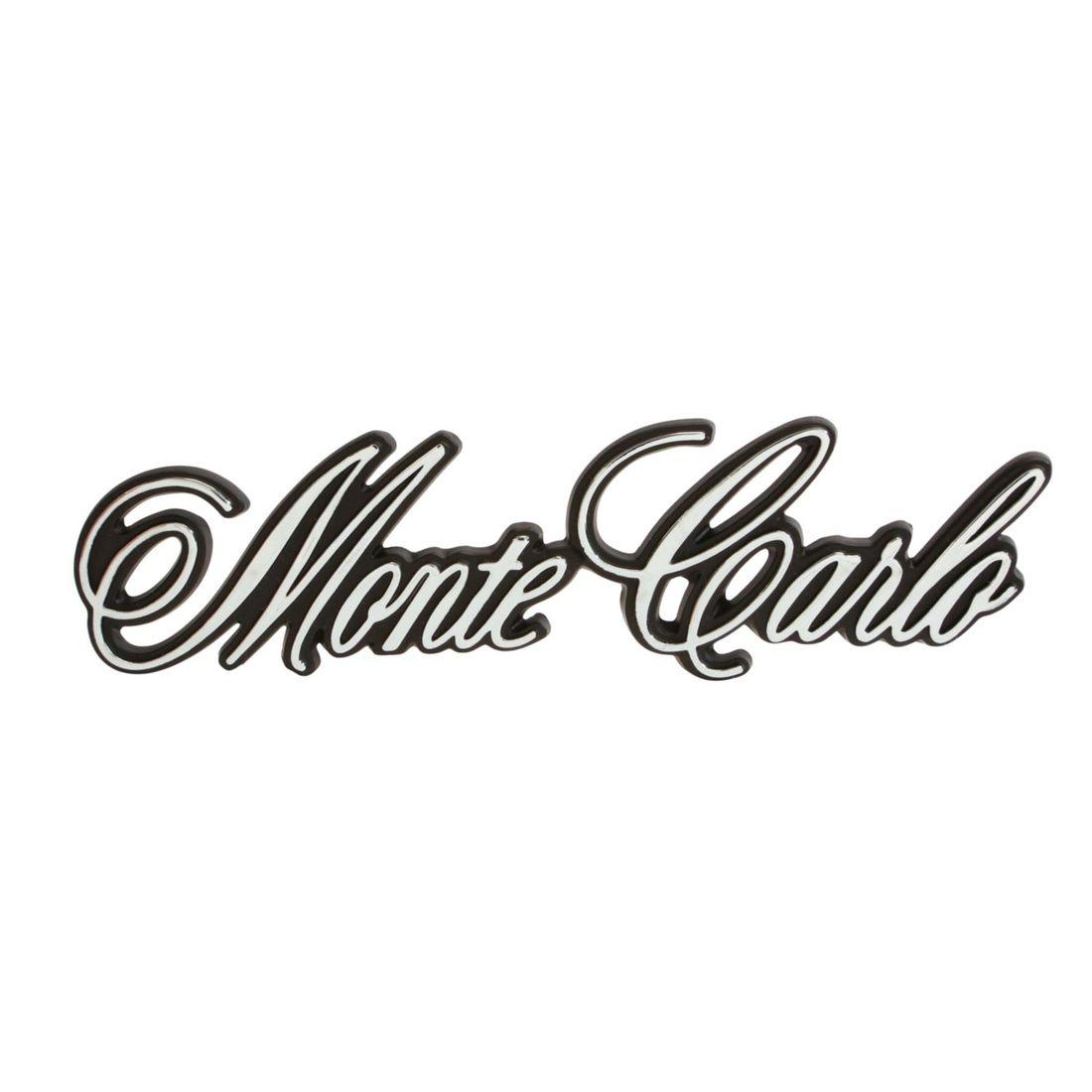 71 Chevrolet Monte Carlo Rear Monte Carlo Emblem W