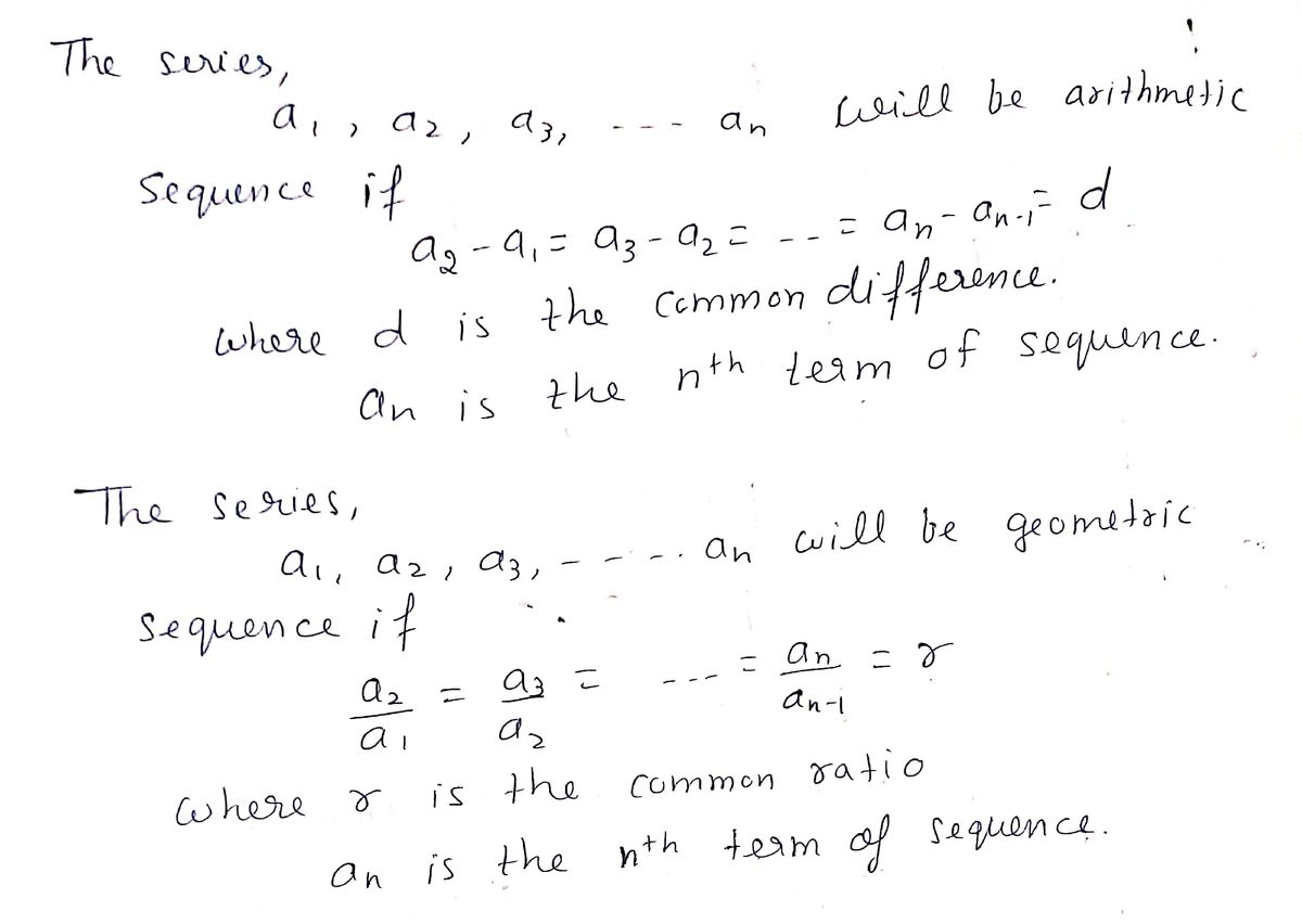 Answered For Exercise Determine If The Nth Term