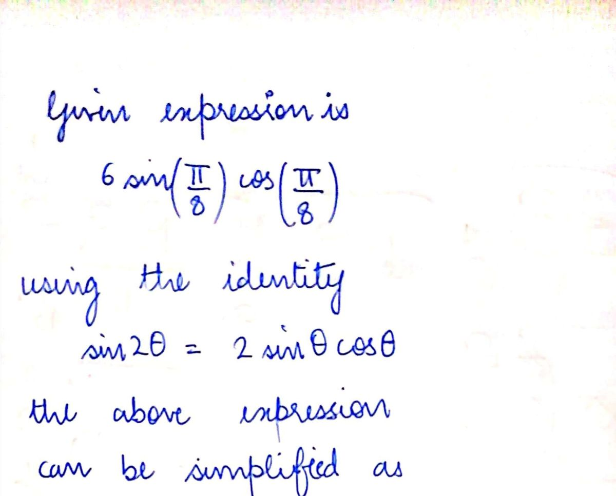 Answered Use The Double Angle Identities To