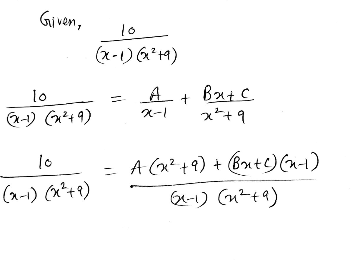Answered Determine The Partial Fraction
