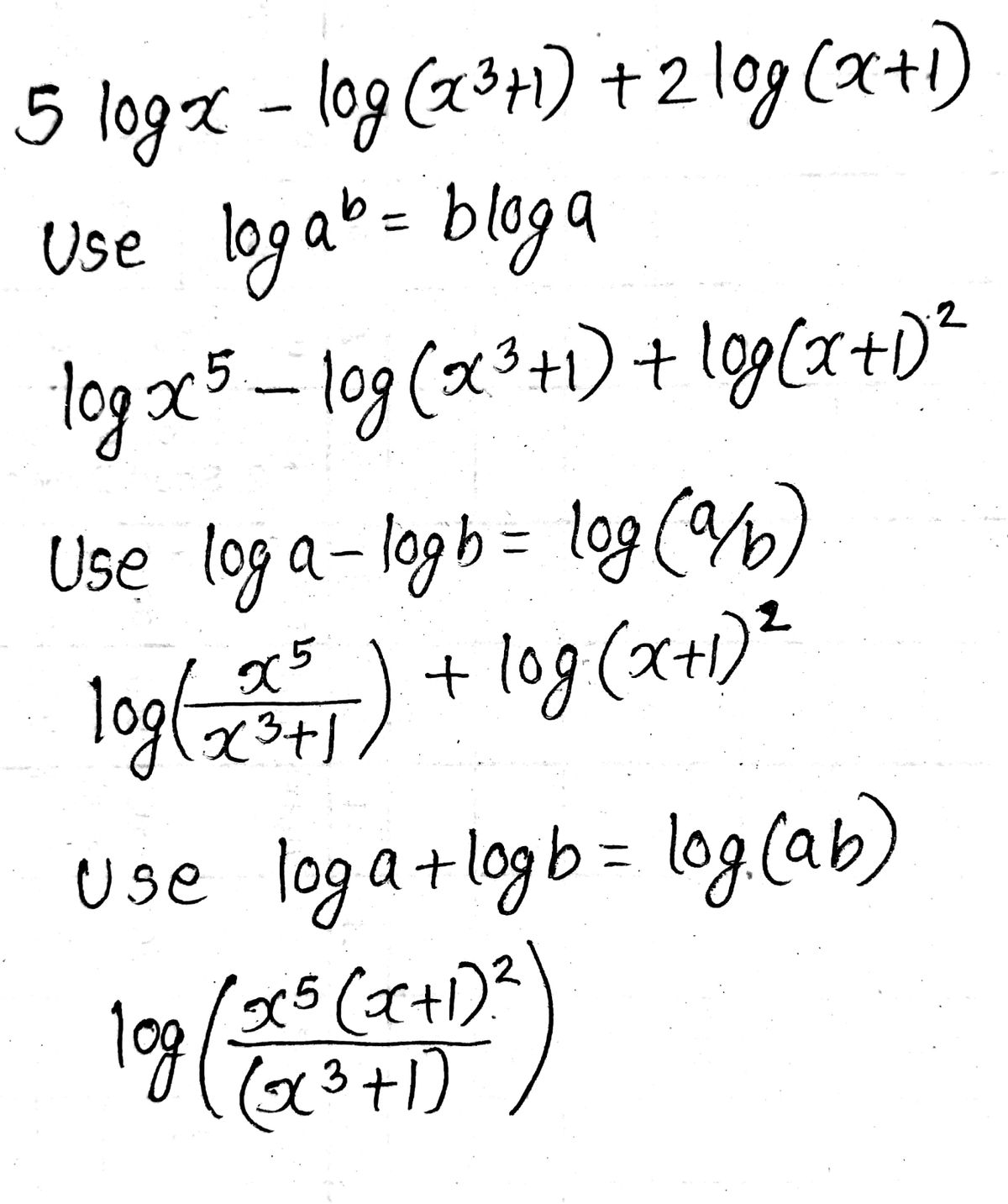Answered 7 Use Properties Of Logarithms To