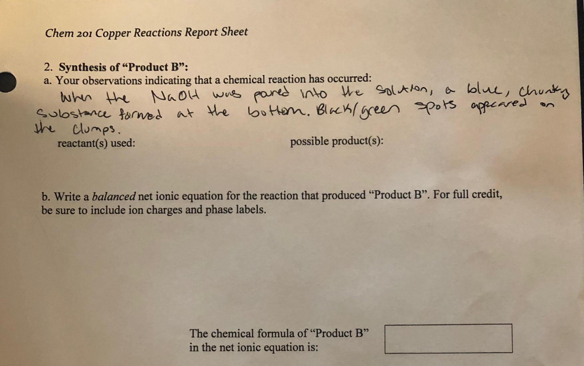 31 Label The Reactants And Products In The Chemical
