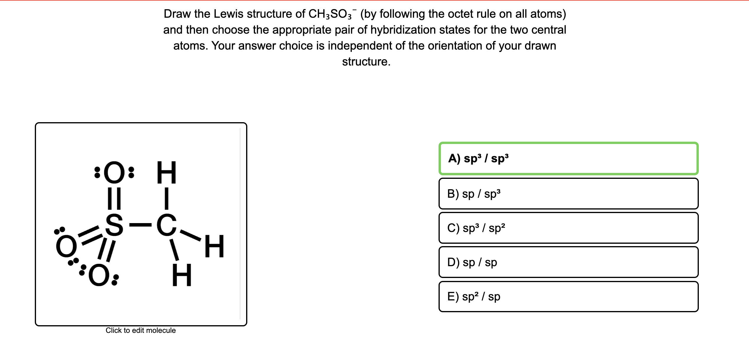 Answered Draw The Lewis Structure Of Ch So3 By
