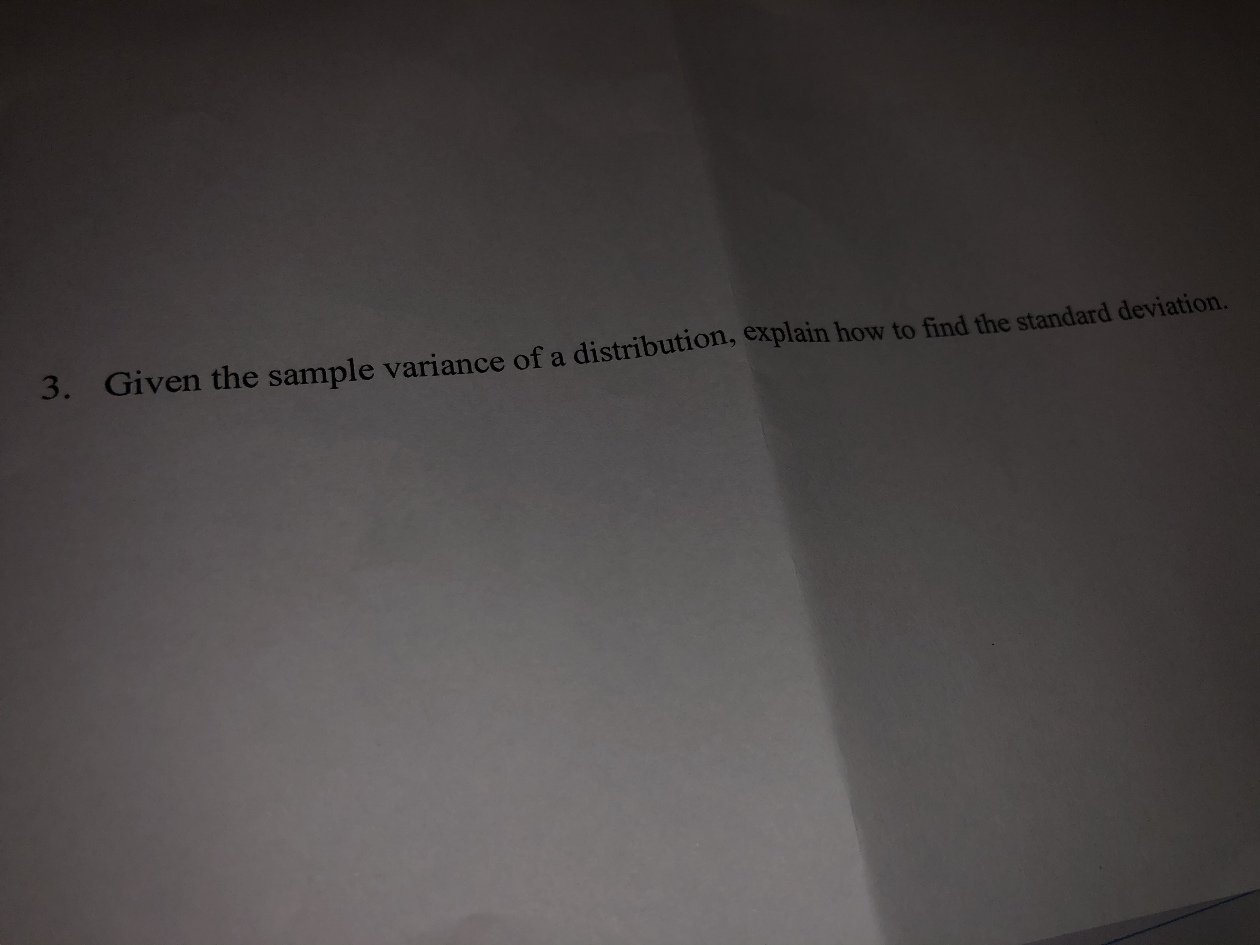 Answered 3 Given The Sample Variance Of A