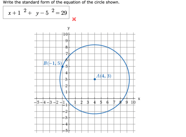 Answered: Write the standard form of the equation  bartleby