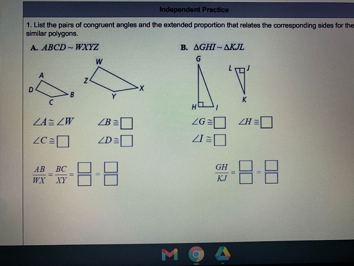 Answered 1 List The Pairs Of Congruent Angles