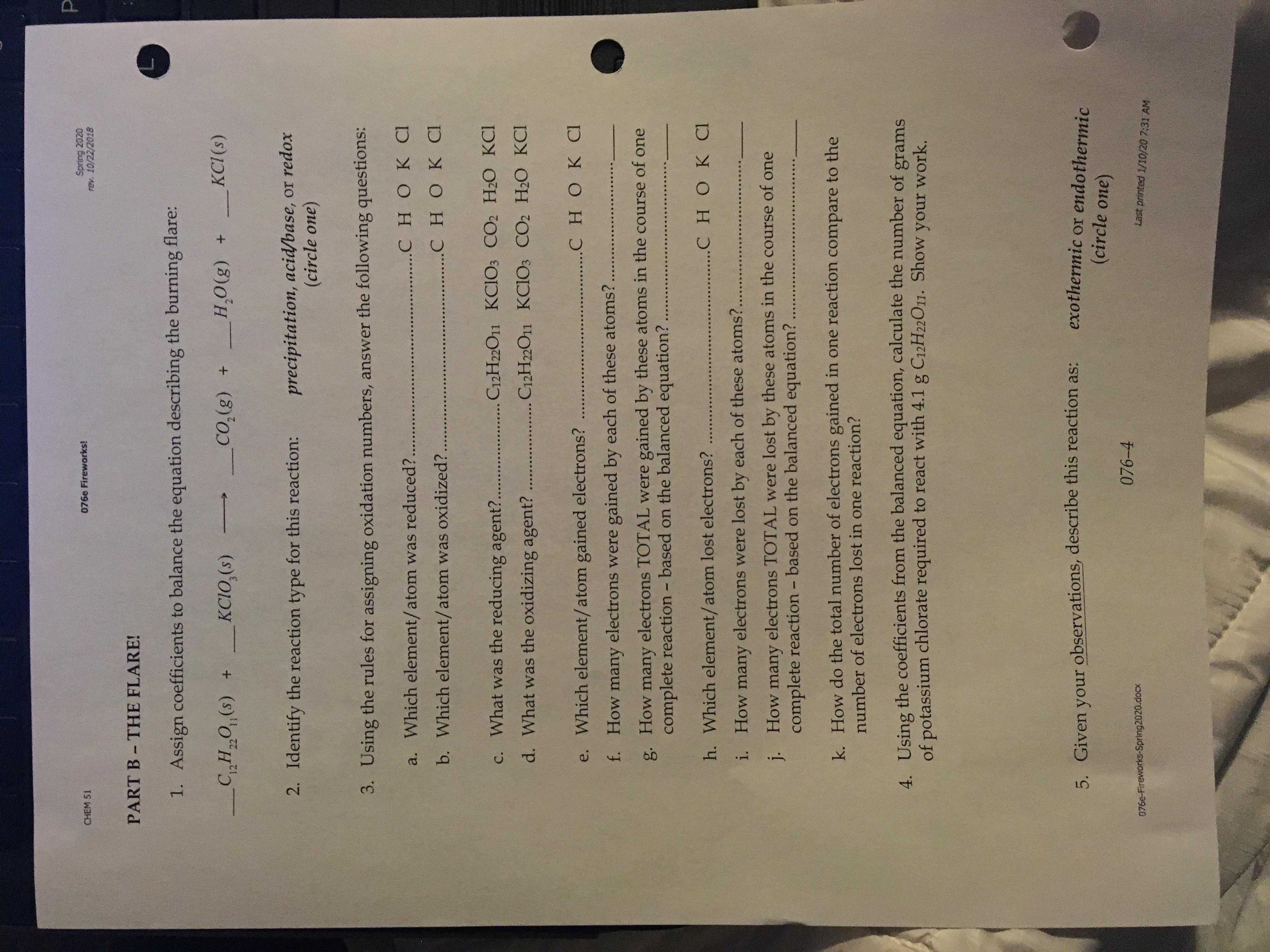 Answered Spring Rev 10 22 Chem 51