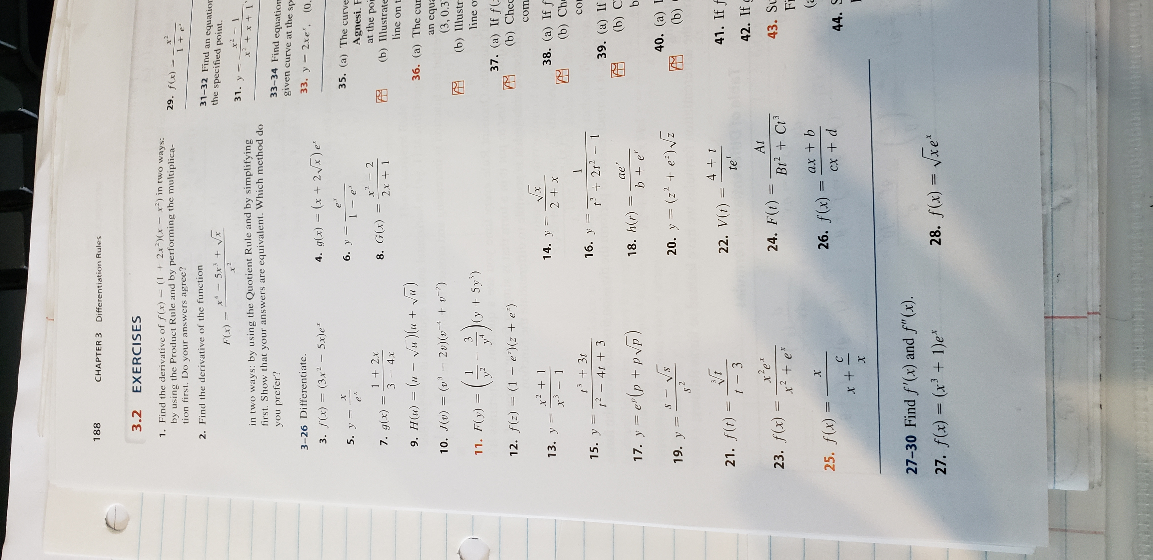 Answered 188 Chapter 3 Differentiation Rules 3 2