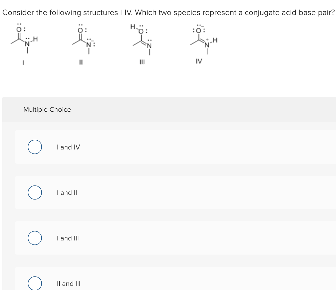 Answered Consider The Following Structures L Iv
