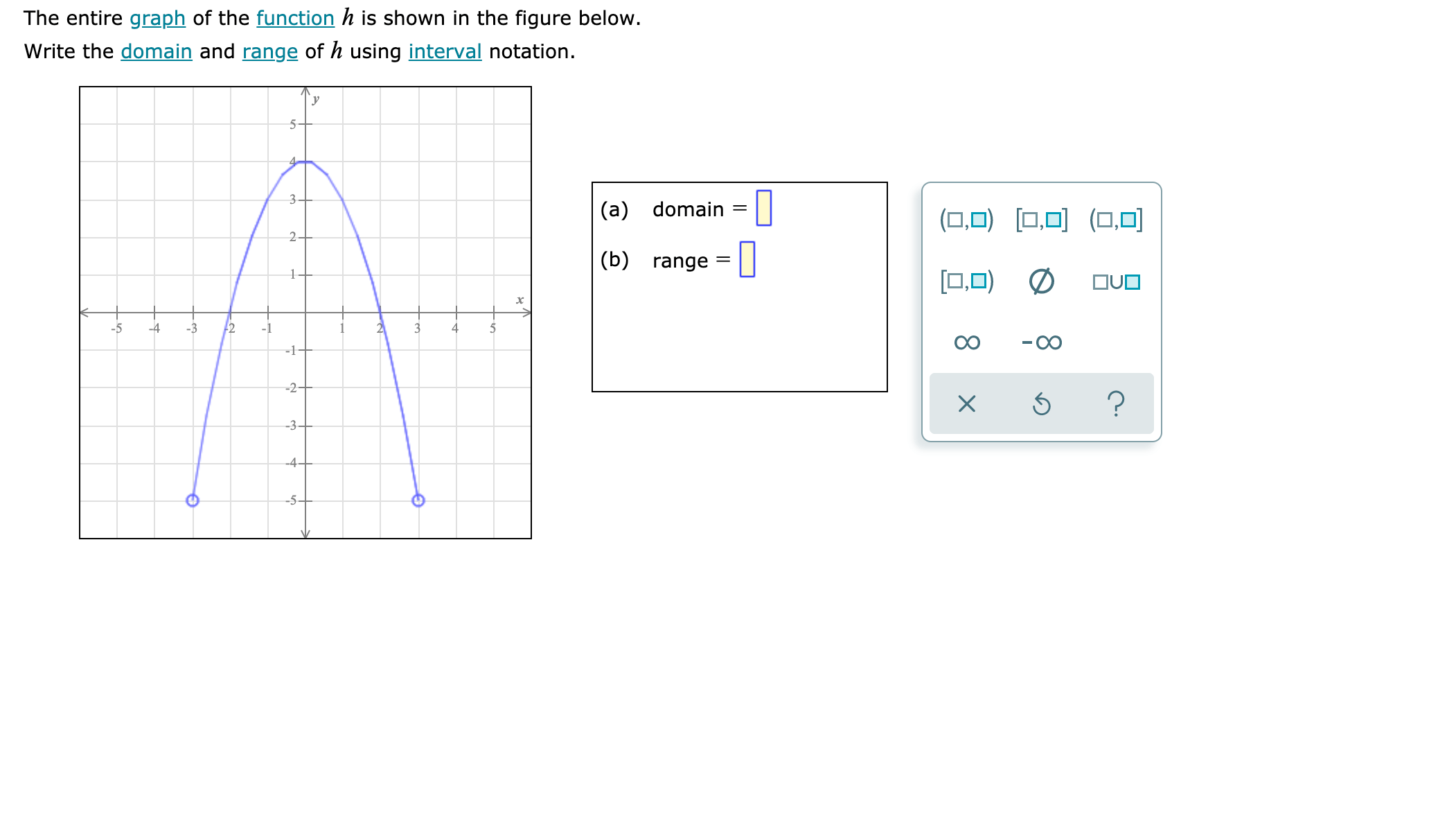 Answered The Entire Graph Of The Function H Is