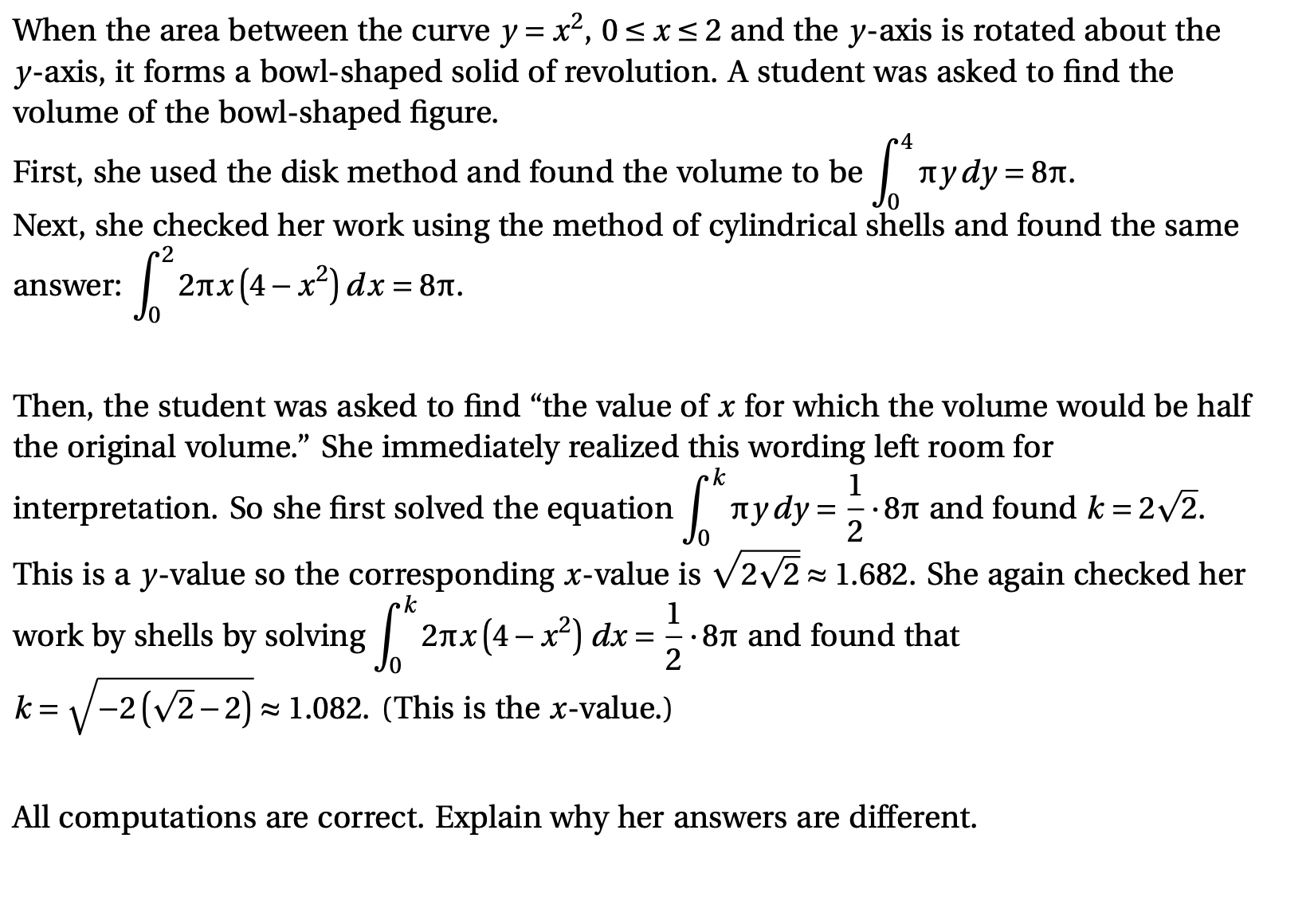 Answered When The Area Between The Curve Y X