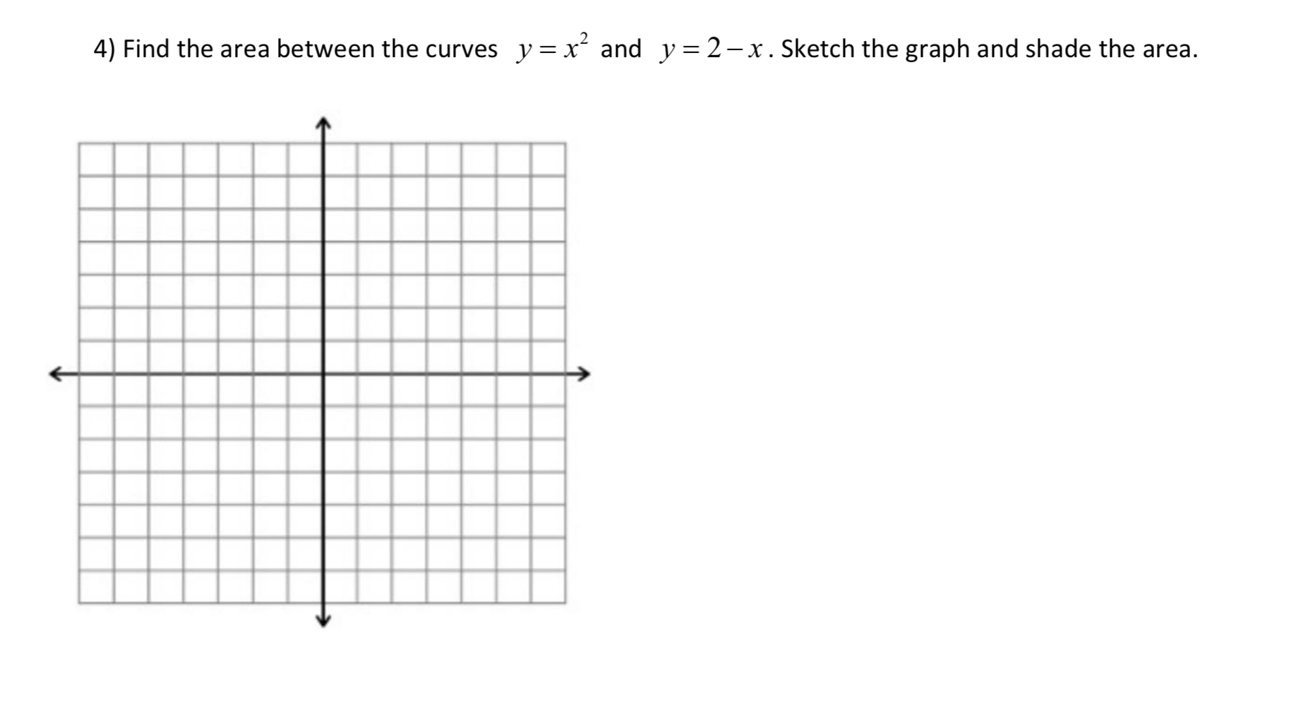 Answered 4 Find The Area Between The Curves Y