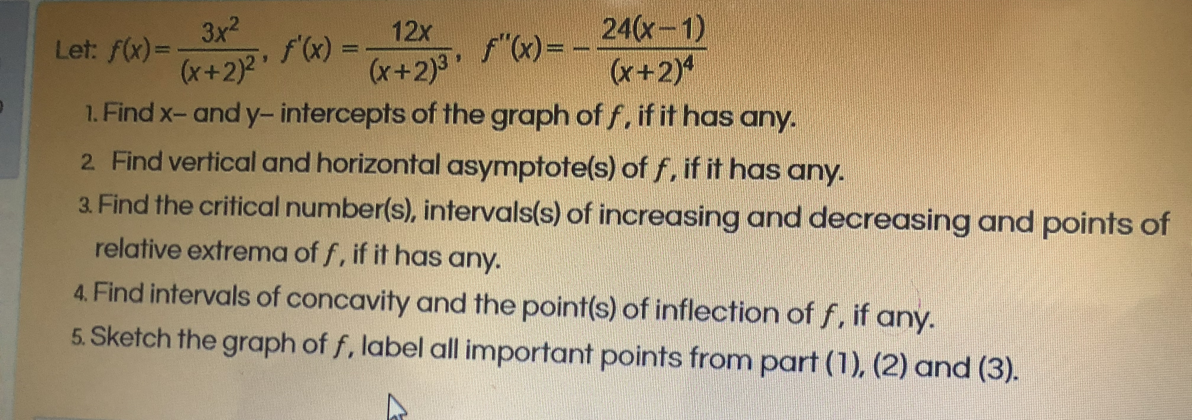 Answered 1 Find X And Y Intercepts Of The