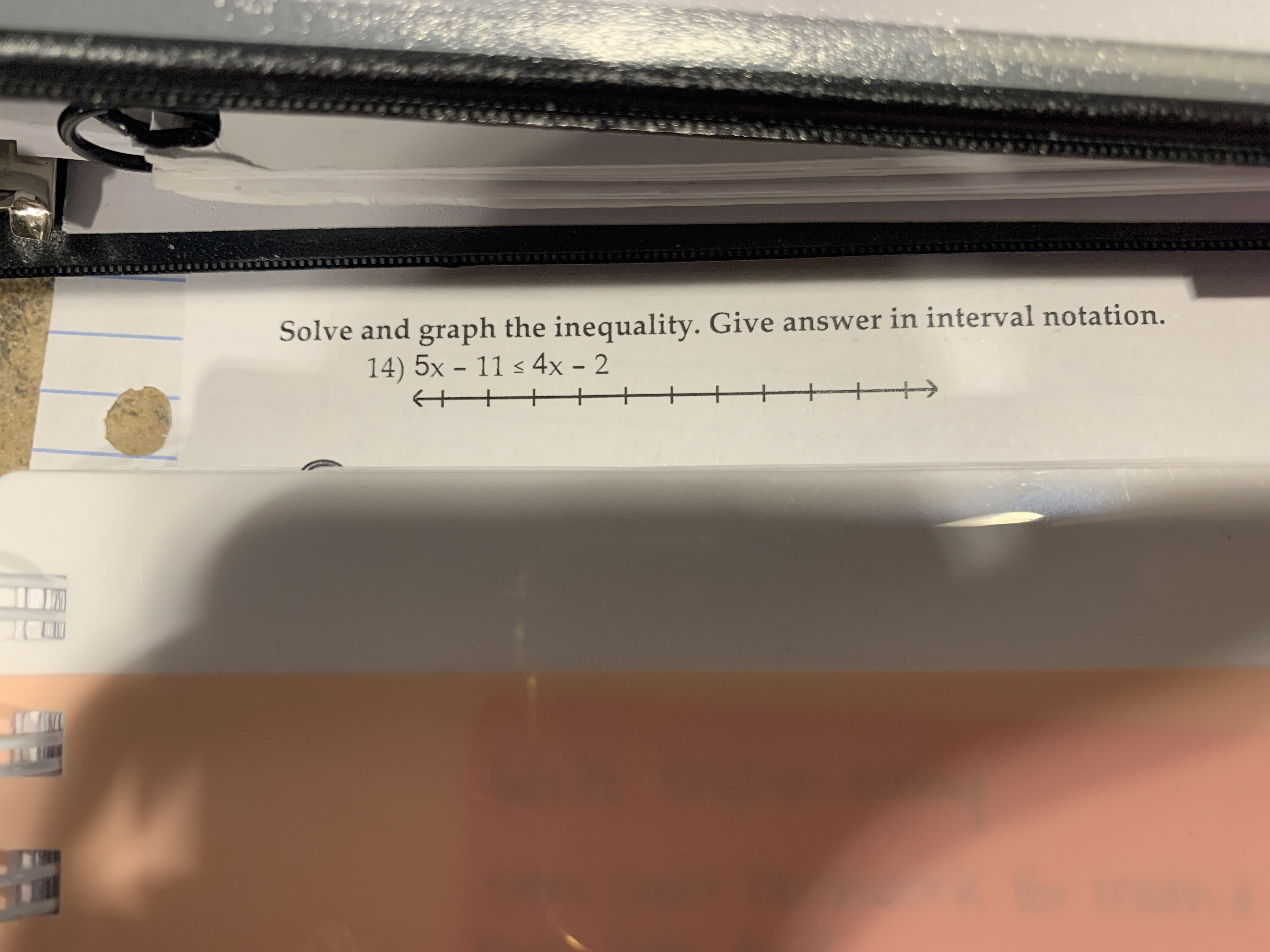 Answered Solve And Graph The Inequality Give