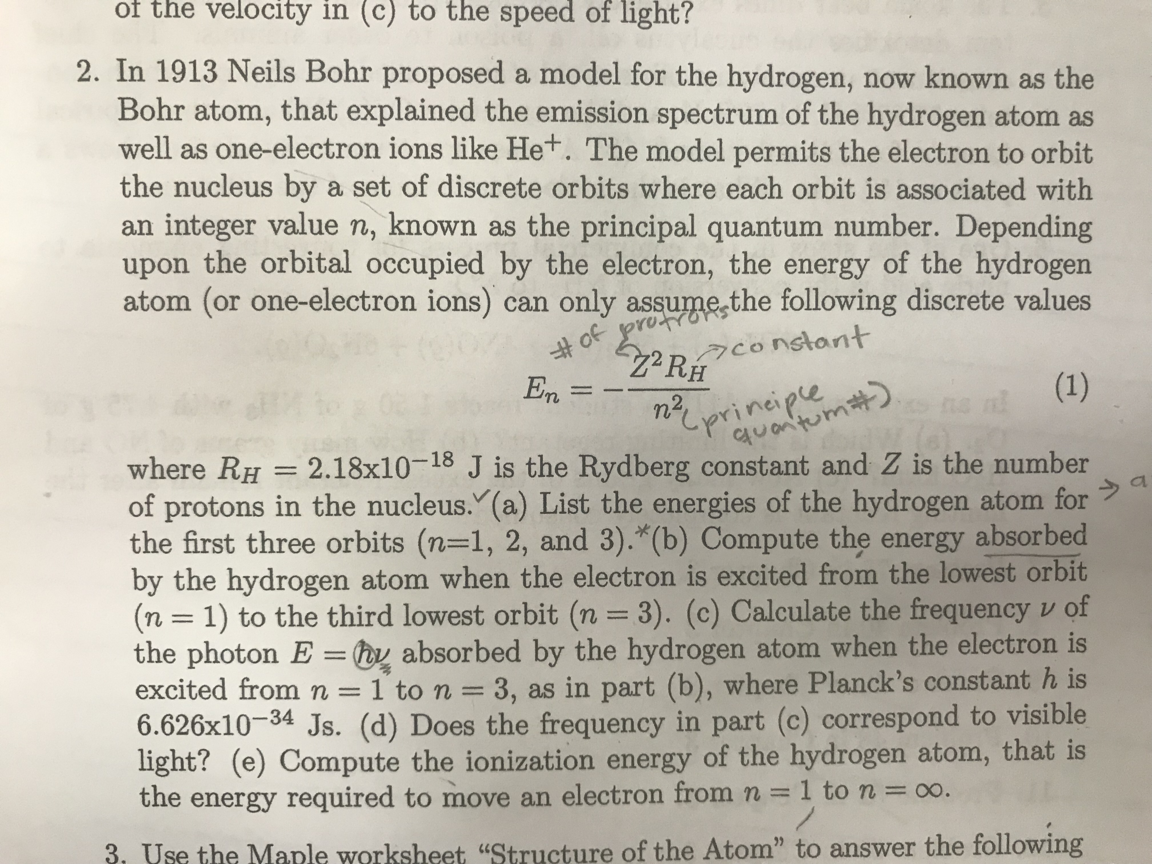 Answered Of The Velocity In C To The Speed Of