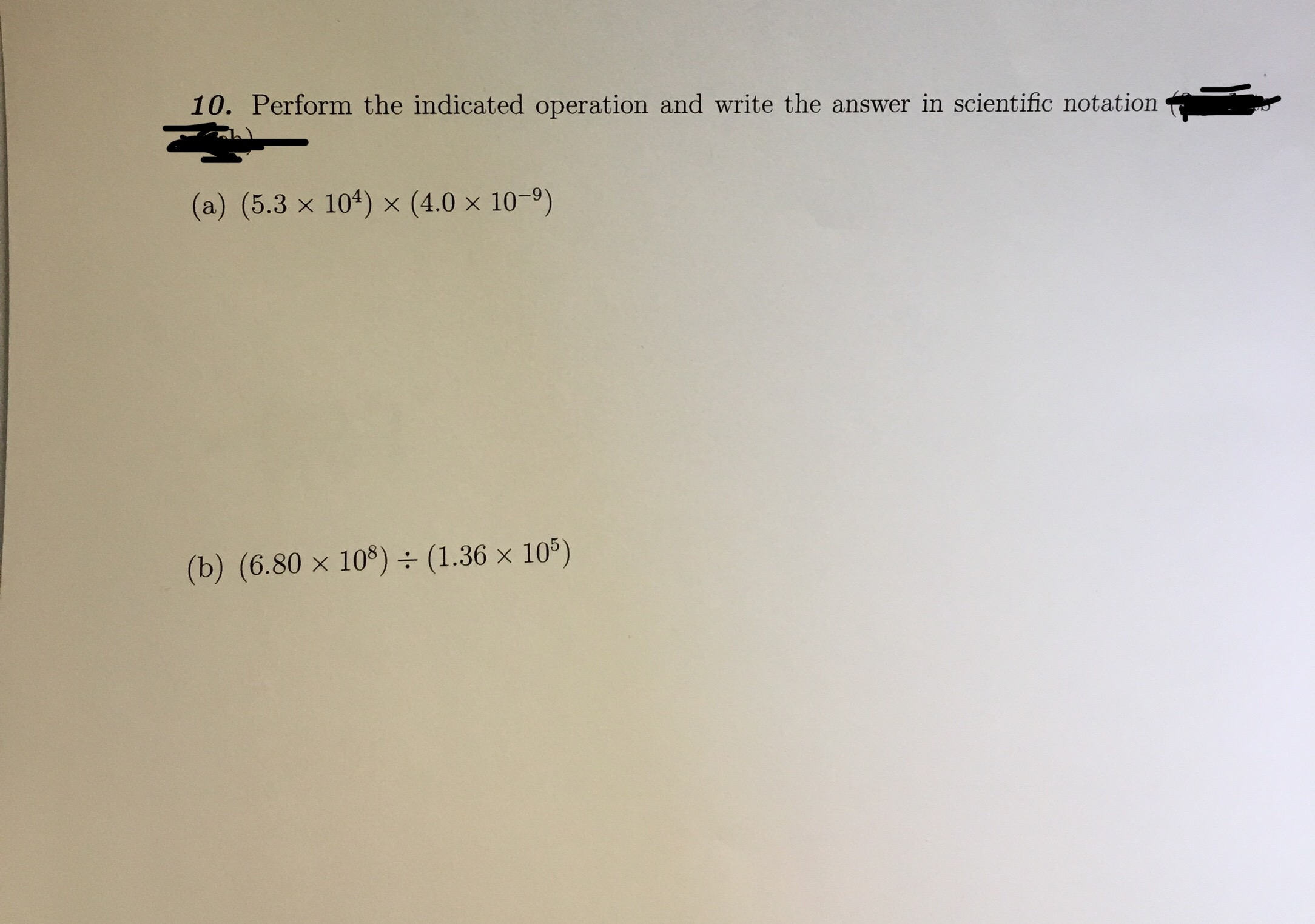 Answered 10 Perform The Indicated Operation And