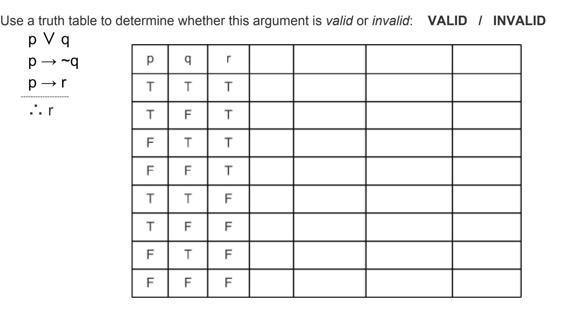 Answered Use A Truth Table To Determine Whether