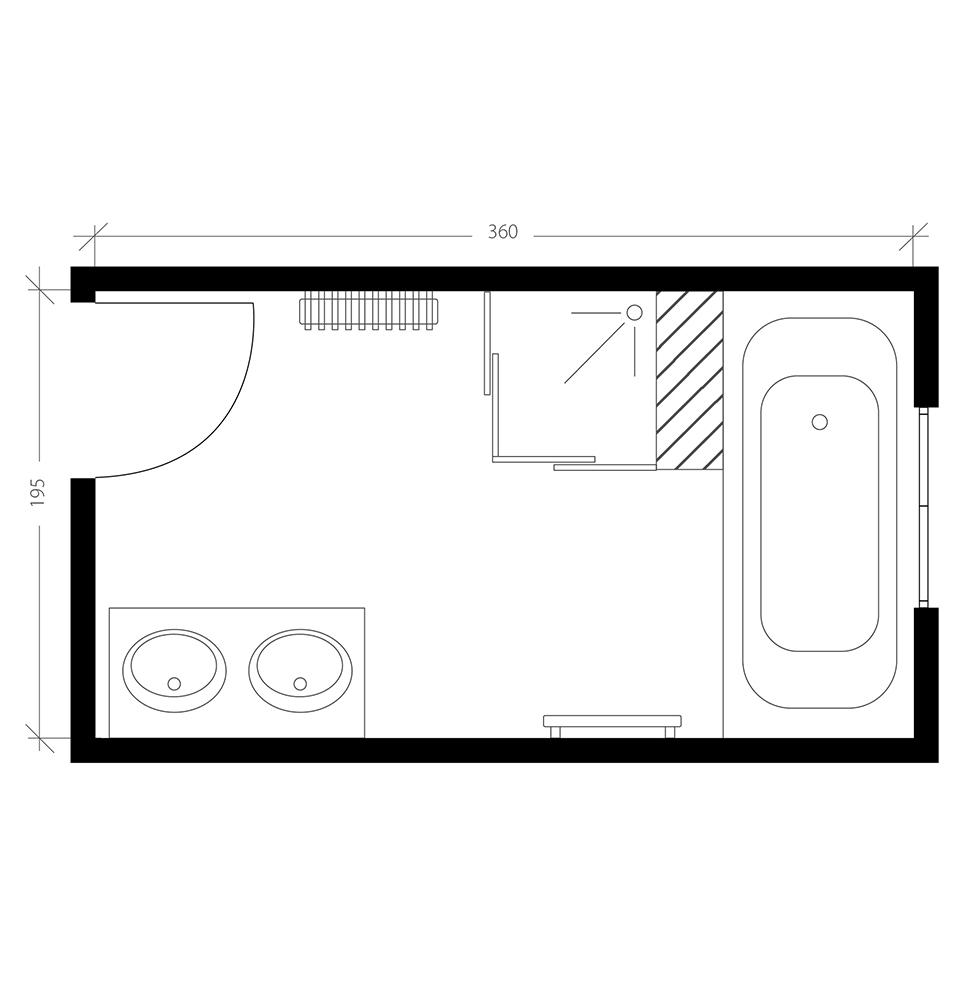 Salle De Bain 7m2 Optimiser L Espace D Une Salle De Bain Familiale
