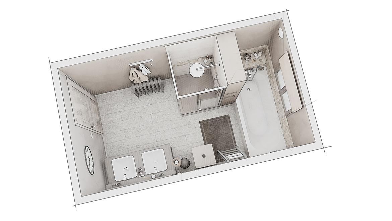 Comment Optimiser L Espace D Une Petite Salle De Bain Familiale Une Salle De Bain De 7 M La Maison Saint Gobain