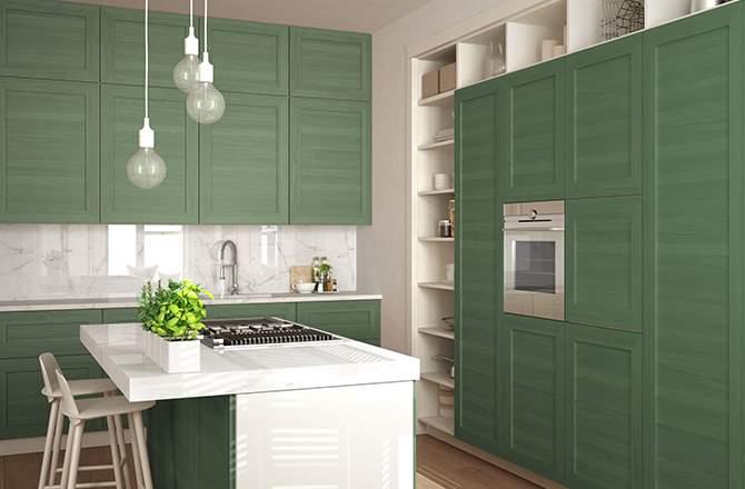 cuisine verte planche de styles