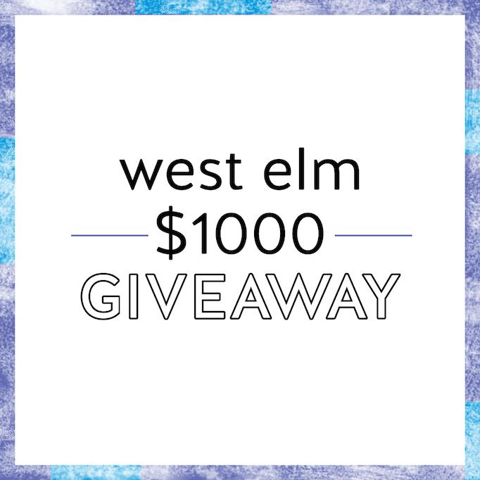west elm giveaway $1000