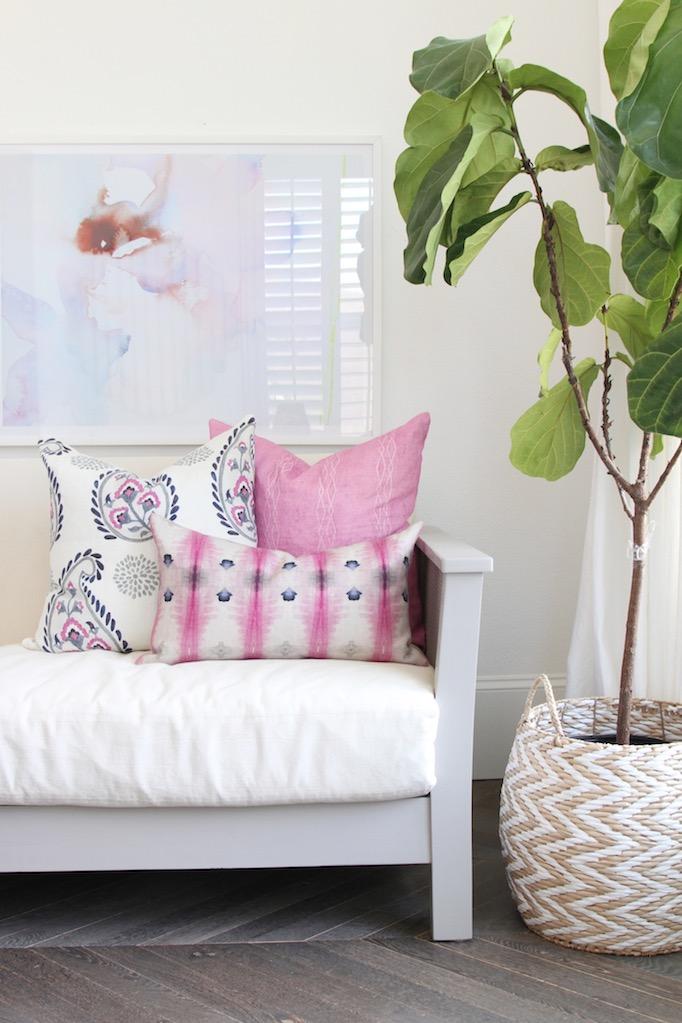 basket as planter becki owens living room