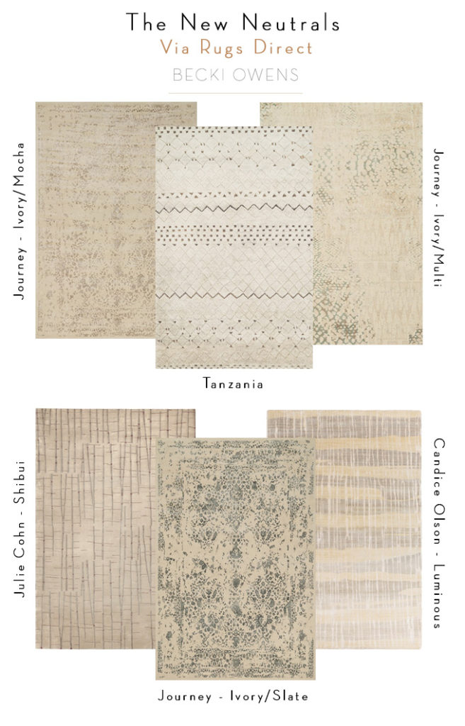 Rug Trend - The New Neutrals - Becki Owens