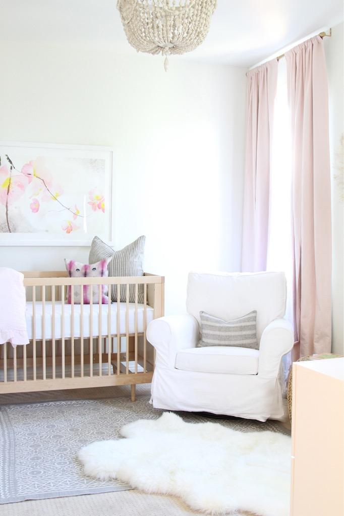 Mint Arrow pink and gold bohemian nursery