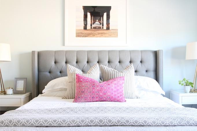 Gray Coastal Guest Bedroom Becki Owens