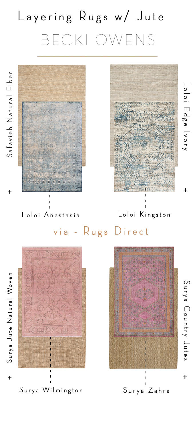 layering with jute rugs