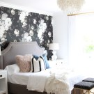 Modern Mix – A Bold Floral Bedroom