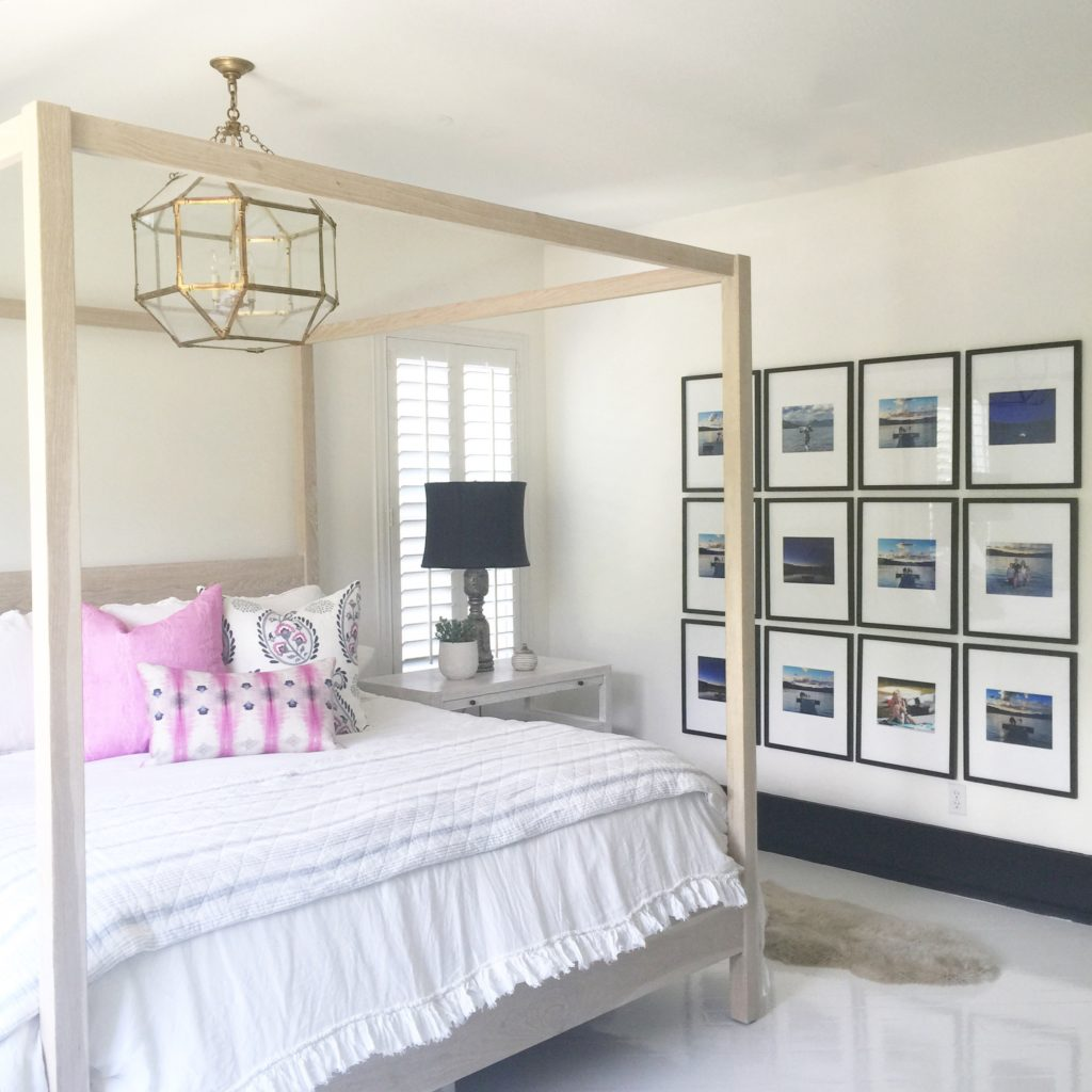 TIP: A modern gallery wall like this is a great way to fill a larger wall  space. This is also a more affordable way to display a series of art or  photos.