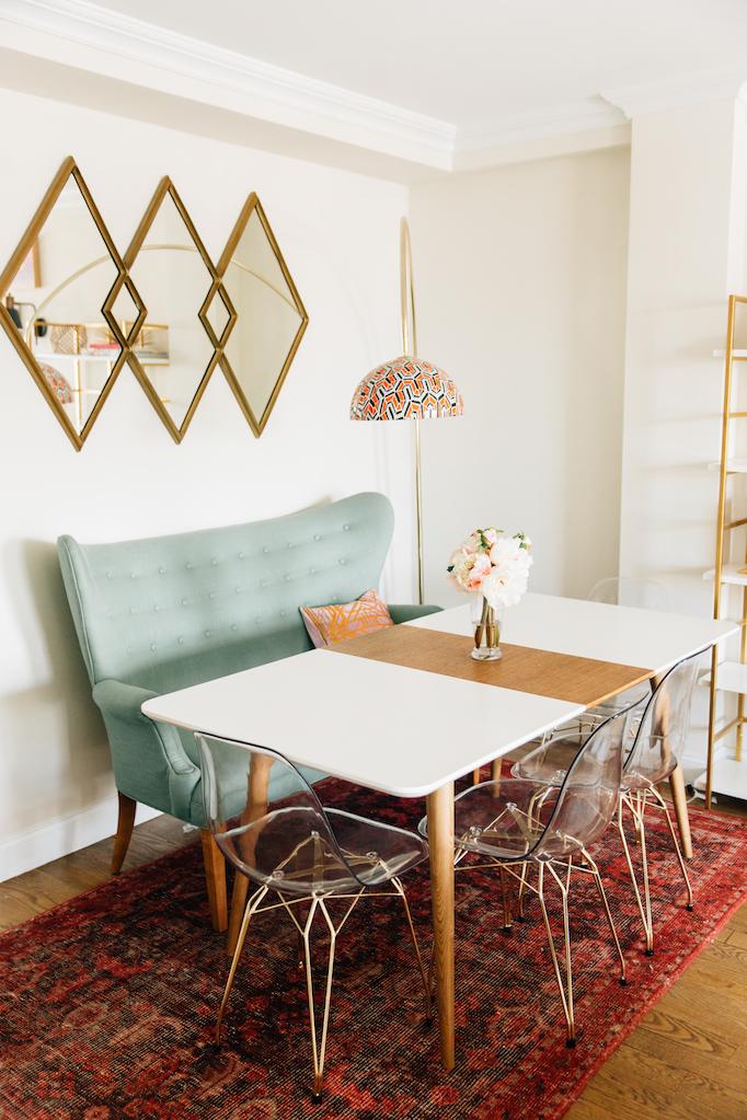 Amber Fillerup Clark NYC Living Room
