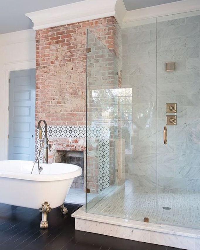brickfireplacebathroom