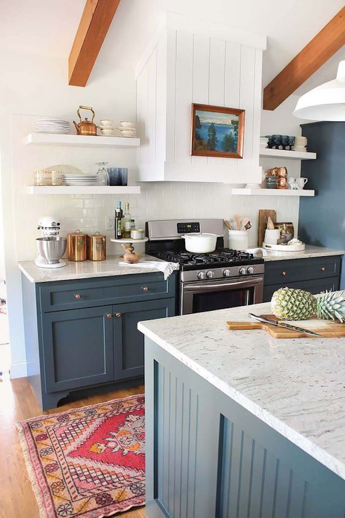 bluecabinetrykitchen New Colors of 2017 BluesBECKI OWENS