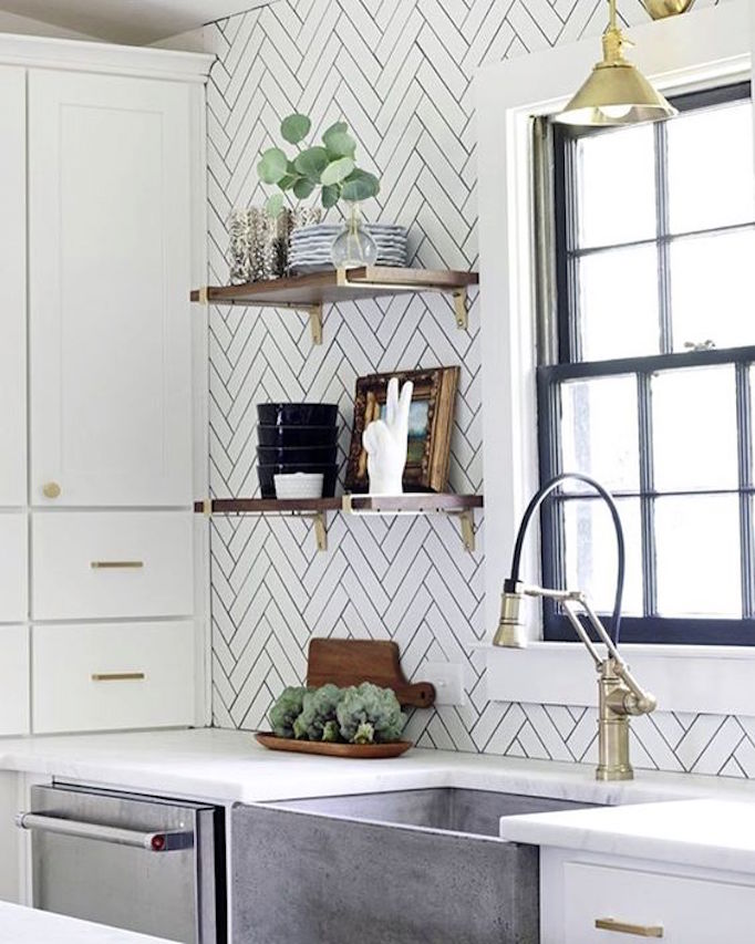 BECKI OWENS Simple Brass Shelving Hardware