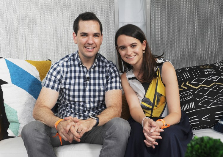 NEW YORK, NY - JULY 22: Ezra Levin and Leah Greenberg of Indivisible attend OZY FEST 2017 Presented By OZY.com at Rumsey Playfield on July 22, 2017 in New York City.  (Photo by Brad Barket/Getty Images for Ozy Fusion Fest 2017)