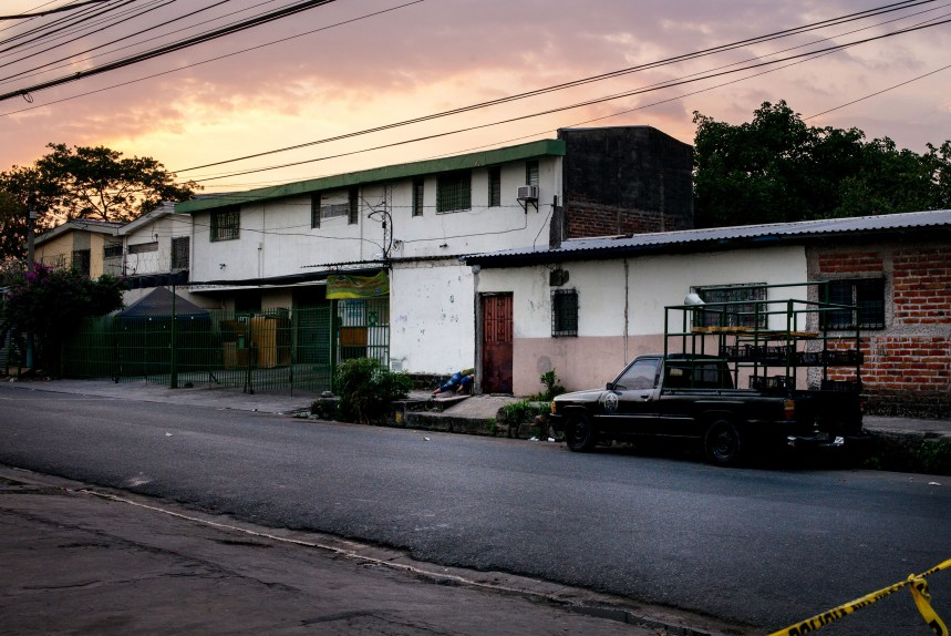 April 2017, El Salvador, San Salvador. A woman who police say was assassinated by gang members while waiting to for her child to get out of school. (Natalie Keyssar)