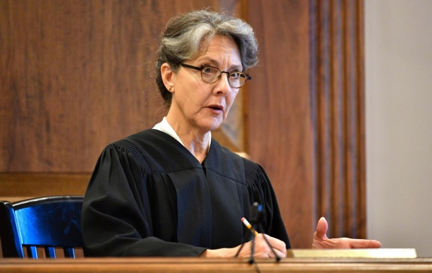 July 23, 2018; Nashville, TN, USA; Davidson County Chancellor Ellen Hobbs Lyle presides over a lawsuit brought on by death row inmates contesting the use of lethal injection as unconstitutional because, they say, it would lead to cruel and unusual punishment, at Chancery Court Part lll, Metro City Hall. Mandatory Credit: Larry McCormack/The Tennessean via USA TODAY NETWORK