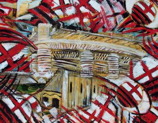 """San Siro stadium (oil on canvas,100x130)"""