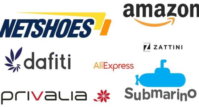 7 lojas virtuais mais conhecidas